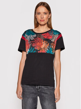 Roxy Roxy T-shirt When We Dance ERJZT05243 Crna Regular Fit
