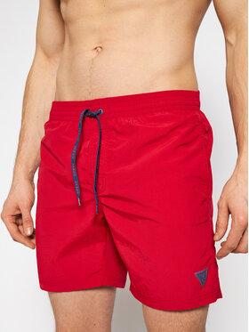 Guess Guess Plavecké šortky F02T01 TEL27 Červená Regular Fit