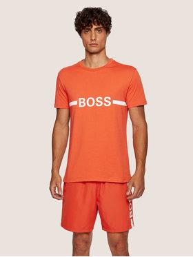 Boss Boss T-shirt Rn 50437367 Arancione Slim Fit