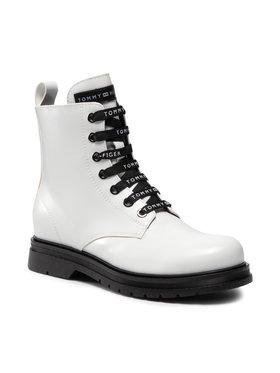 Tommy Hilfiger Tommy Hilfiger Kozaki Lace-Up Bootie T4A5-32010-0776100 S Biały