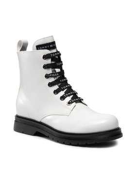 Tommy Hilfiger Tommy Hilfiger Stiefel Lace-Up Bootie T4A5-32010-0776100 S Weiß
