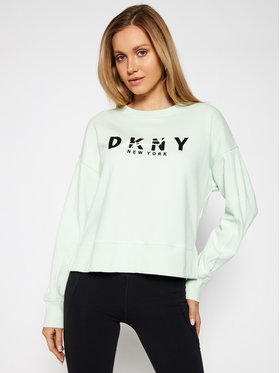 DKNY Sport DKNY Sport Bluza DP0T7848 Zielony Loose Fit