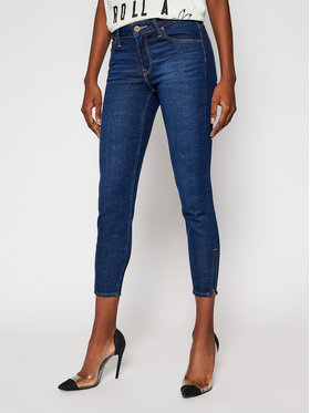 Lee Lee Skinny Fit Jeans Scarlett Cropped L30CPQAN Dunkelblau Skinny Fit