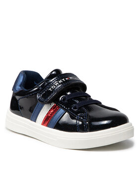 Tommy Hilfiger Tommy Hilfiger Sneakersy Low Cut Lace-Up T1A4-31149-1238 S Granatowy