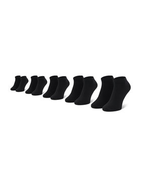 Jack&Jones Jack&Jones Set di 5 paia di calzini corti da uomo Jacdongo 12120278 Nero