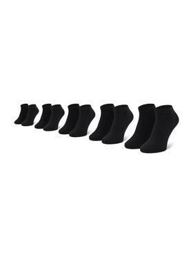 Jack&Jones Jack&Jones Súprava 5 párov členkových pánskych ponožiek Jacdongo 12120278 Čierna