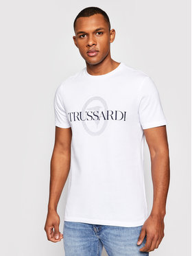 Trussardi Trussardi Marškinėliai Pure 52T00507 Balta Regular Fit