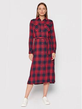 Pepe Jeans Pepe Jeans Sukienka koszulowa Nina PL952941 Czerwony Regular Fit