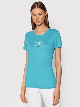 Tommy Jeans Tommy Jeans T-Shirt Essenstial Logo DW0DW11239 Niebieski Skinny Fit