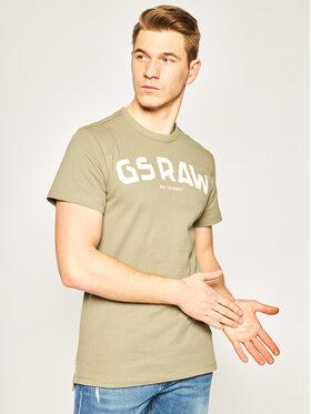 G-Star Raw G-Star Raw T-Shirt Gsraw Gr D16388-4561-2199 Zielony Regular Fit