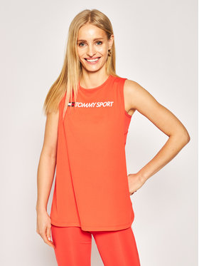 Tommy Sport Tommy Sport Top Performance S10S100460 Czerwony Regular Fit