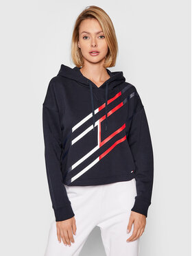 Tommy Hilfiger Tommy Hilfiger Bluza Flag Graphic S10S101161 Granatowy Relaxed Fit