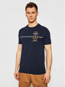Aeronautica Militare Aeronautica Militare Marškinėliai 211TS1859J469 Tamsiai mėlyna Regular Fit