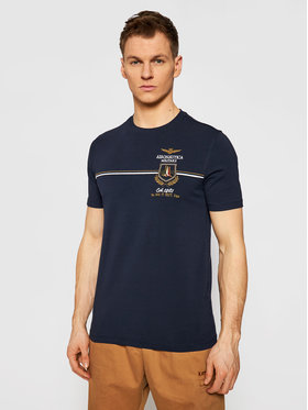 Aeronautica Militare Aeronautica Militare T-shirt 211TS1859J469 Tamnoplava Regular Fit