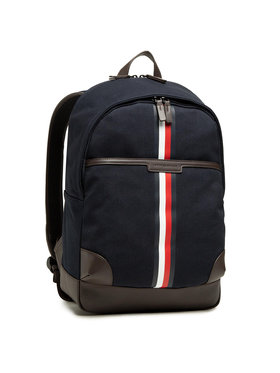 Tommy Hilfiger Tommy Hilfiger Plecak Casual Canvas Backpack AM0AM07409 Granatowy