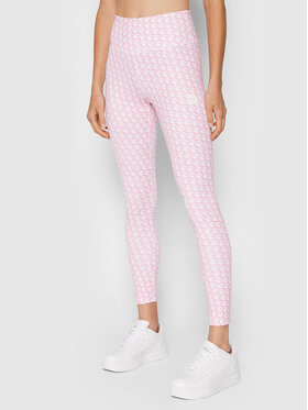 Guess Guess Legginsy Caitlin O1BA24 MC03W Różowy Slim Fit
