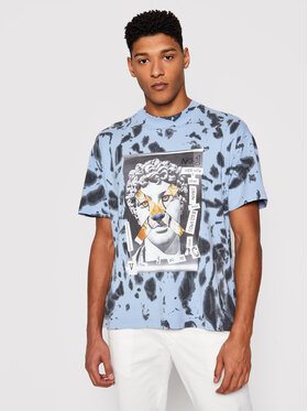 Versace Jeans Couture Versace Jeans Couture Marškinėliai B3GWA7VA Mėlyna Relaxed Fit