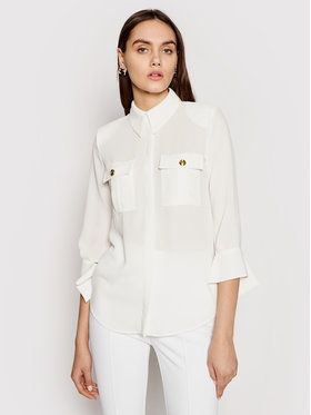 Elisabetta Franchi Elisabetta Franchi Koszula CA-323-11E2-V270 Biały Regular Fit