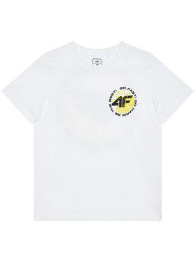 4F 4F Marškinėliai HJL21-JTSM008A Balta Regular Fit