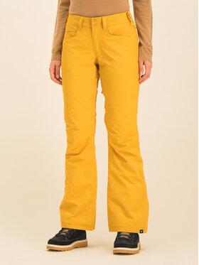 Roxy Snowboardové nohavice Backyard ERJTP03091 Žltá Slim Fit