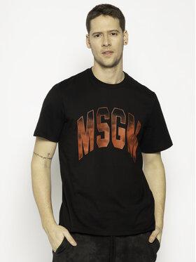 MSGM MSGM T-shirt 2840MM214 207098 Noir Regular Fit