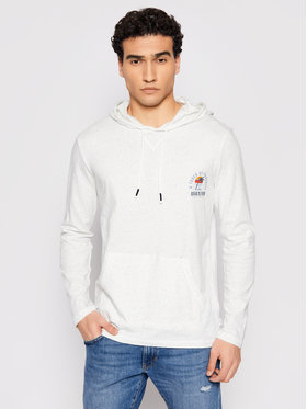 Quiksilver Quiksilver Marškinėliai ilgomis rankovėmis Beal Hoody EQYKT04122 Balta Regular Fit