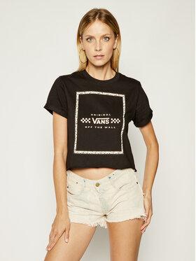 Vans Vans T-shirt Leila VN0A4CWXBLK Noir Regular Fit