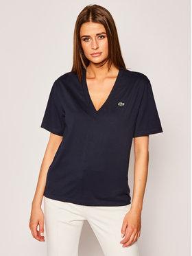 Lacoste Lacoste Marškinėliai TF5458 Tamsiai mėlyna Regular Fit