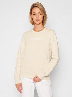 Calvin Klein Jeans Calvin Klein Jeans Bluza J20J216537 Beżowy Regular Fit