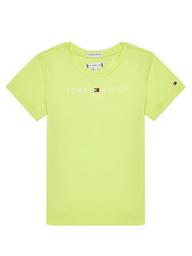 Tommy Hilfiger Tommy Hilfiger T-Shirt KG0KG05242 M Zielony Regular Fit