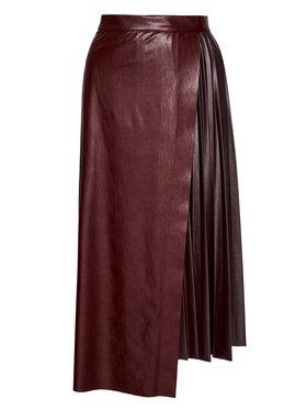 Persona by Marina Rinaldi Persona by Marina Rinaldi Jupe en cuir 1104010 Bordeaux Regular Fit