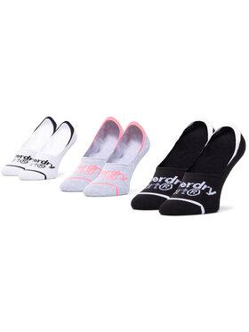 Superdry Superdry Σετ 3 ζευγάρια κάλτσες σοσόνια γυναικεία Collmax Invisible Sock 3Pk WS400010A Έγχρωμο