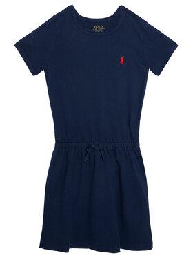 Polo Ralph Lauren Polo Ralph Lauren Ежедневна рокля Tie Frnt 312833945008 Тъмносин Regular Fit