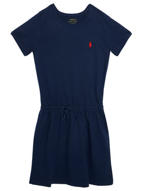 Polo Ralph Lauren Polo Ralph Lauren Φόρεμα καθημερινό Tie Frnt 312833945008 Σκούρο μπλε Regular Fit
