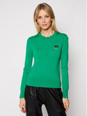Pinko Pinko Sweater Starter PE 21 BLK01 1G15ZF Y6XB Zöld Regular Fit