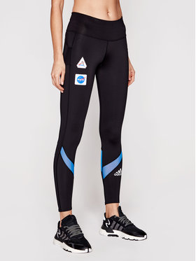adidas adidas Leggings Own The Run Space Race GK6990 Nero Slim Fit