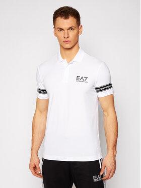 EA7 Emporio Armani EA7 Emporio Armani Tričko 3KPF04 PJ03Z 1100 Biela Regular Fit