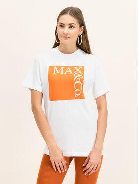 MAX&Co. MAX&Co. Marškinėliai 49749619 Balta Regular Fit