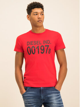 Diesel Diesel Póló Diego 00SASA 0AAXJ Piros Regular Fit