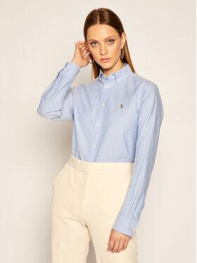 Polo Ralph Lauren Polo Ralph Lauren Koszula Lsl 211806181 Niebieski Classic Fit