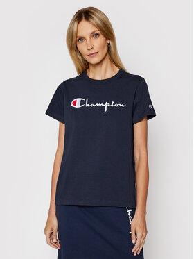 Champion Champion T-Shirt Script Logo Crew Neck 110992 Tmavomodrá Heritage Fit