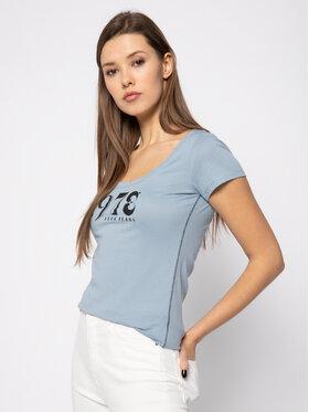 Pepe Jeans Pepe Jeans T-Shirt Caieta PL504335 Niebieski Regular Fit