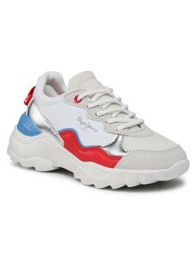 Pepe Jeans Pepe Jeans Sneakers Eccles Junior PGS30490 Alb