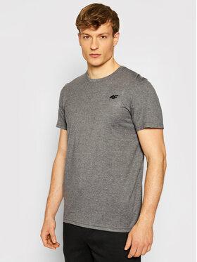 4F 4F T-Shirt NOSH4-TSM003 Šedá Regular Fit
