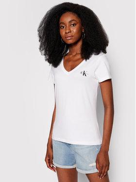Calvin Klein Jeans Calvin Klein Jeans T-Shirt Monogram J20J217166 Biały Slim Fit