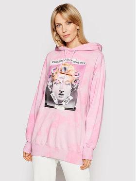 Versace Jeans Couture Versace Jeans Couture Majica dugih rukava B6HWA7VE Ružičasta Regular Fit