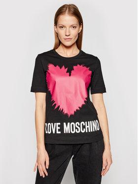 LOVE MOSCHINO LOVE MOSCHINO Тишърт W4F153AM 3876 Черен Regular Fit