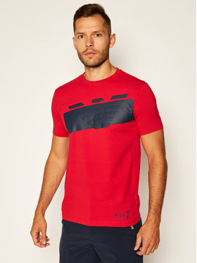EA7 Emporio Armani EA7 Emporio Armani T-Shirt 6HPT31 PJ3NZ 1451 Czerwony Regular Fit