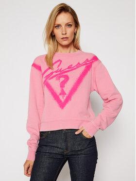 Guess Guess Mikina Graffiti Fleece W0BQ13 K68I0 Ružová Regular Fit