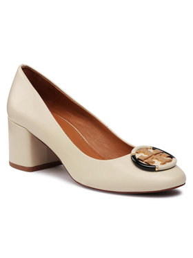 Tory Burch Tory Burch Félcipő Multi Logo 55Mm Pump 76483 Bézs